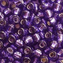 Toho 6/0 Seed Beads Silver Lined Purple 2224 - 10 grams